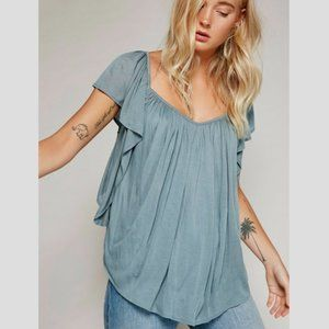 FREE PEOPLE Forever And Always Top in Grey - S